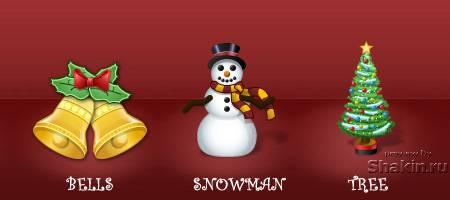 Иконки - Новогодняя Коллекция - Christmas Icons
