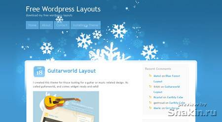 Cool winter wordpress theme