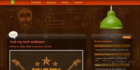 красивый сайт www.alexbuga.com