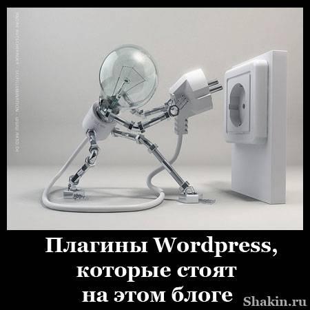 Плагины WordPress, которые стоят на этом блоге