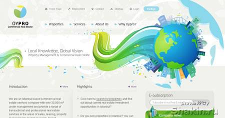 светлый веб-дизайн