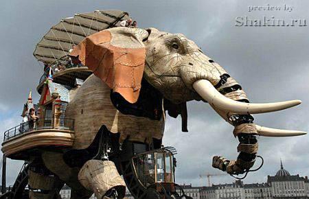 стимпанк слон