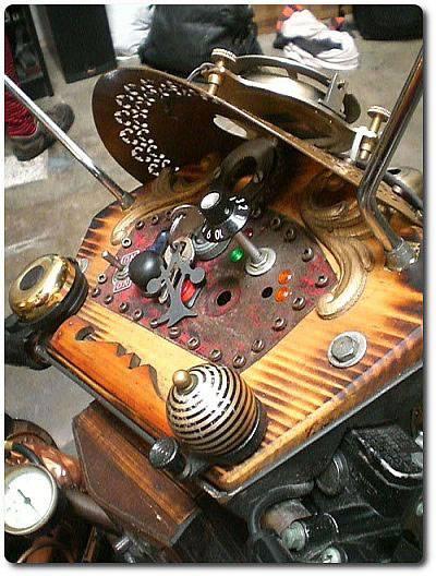 Самодельный стимпанк мотоцикл