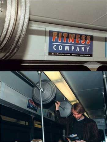 фитнесс креативная реклама