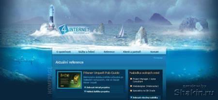 вебдизайн морская тематика