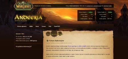 warcraft вебдизайн