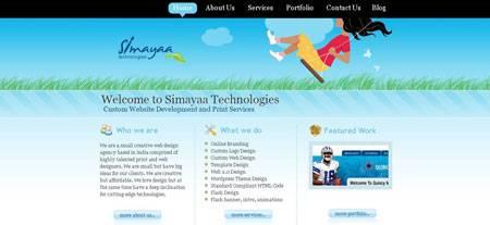 красивый сайт индийской студии вебдизайна