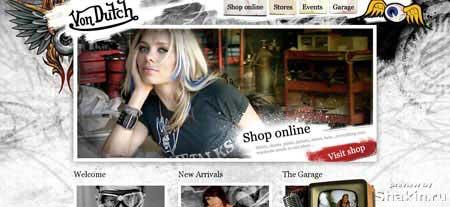 интернет-магазин мужской и женской одежды из Калифорнии