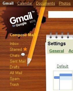 тема gmail