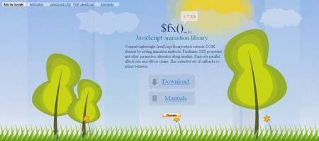 Fx.inetcat.com - сайт с демонстрацией эффекта анимации на javascript