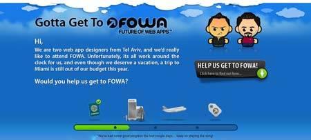Gottagettofowa.com - два израильских вебразработчика мечтают попасть в Майами на FOWA