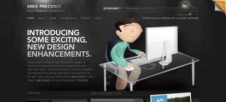 Mikeprecious.com - сайт канадского мультимедиа дизайнера