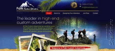 Falkadventures.com - сайт американского туристического агентства