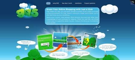 Greenanysite.com - сайт в поддержку защиты окружающей среды, все нарисовано очень красиво
