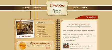 Restaurant-cherbourg.fr - сайт французского ресторана из города Шербур с элегантным дизайном