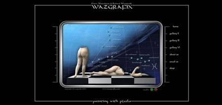 Wazgrafix.com - интересный flash сайт