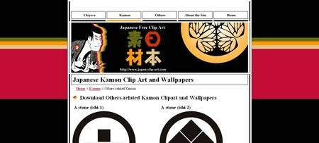 Japanese-clip-art.com - сайт посвящен клипарту в японском стиле Камон
