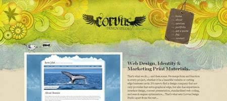 Corvusart.com - портфолио веб-дизайн студии из Калифорнии
