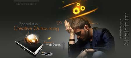 Outsource-webdesign.com - очень креативное оформление