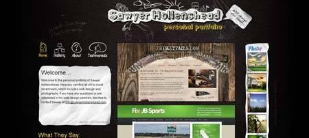 Sawyerhollenshead.com - творческое портфолио 18-летнего веб-дизайнера Сойера Холленсхэда