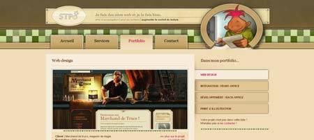 Stpo.fr - креативное портфолио известного французского веб-дизайнера Кристофа Андрэ