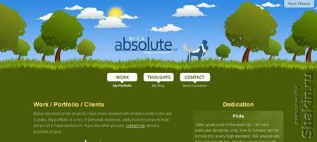 Absolutebica.com - очень красивый сайт