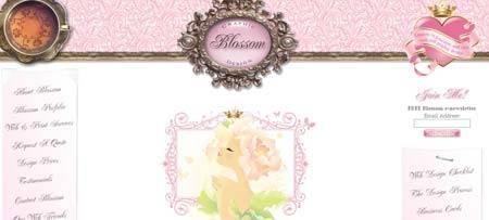Blossomgraphicdesign.com - классический пример женского подхода в веб-дизайне