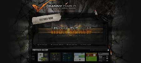 Dannydiablo.de - сайт немецкого веб-дизайнера Даниэла Кнаака