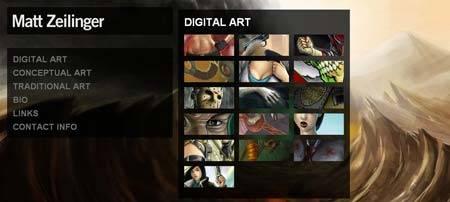Mattzeilinger.com - портфолио цифрового, концептуального и традиционного искусства