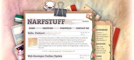 Narfstuff.co.uk - жизнерадостные цвета, красивый дизайн