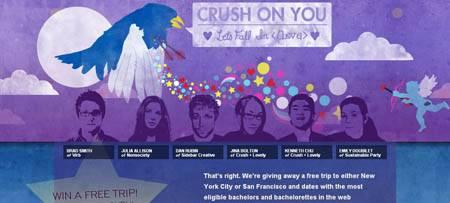 Crushlovely.com - у этого сайта оригинальная идея - они набирают фолловеров на твиттере