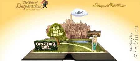 """Despereauxadventure - очень красивый интерактивный flash сайт по мотивам мульфильма """"Приключения Десперо"""""""