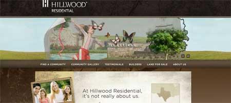 Hillwoodresidential - сайт техасской компании по недвижимости