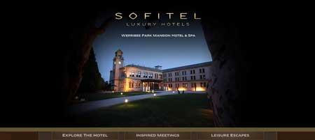 Mansionhotel.com.au - эффектный сайт австралийского люкс отеля из Мельбурна