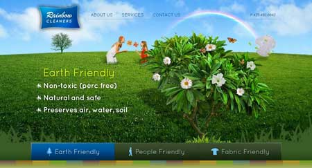 Rcleaners - красивый сайт клининговой компании из города Вуденвилля, что в штате Вашингтон