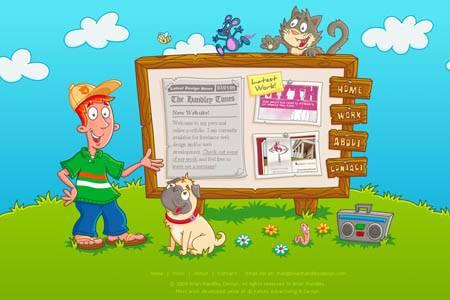Brianhandleydesign.com - персональный сайт веб-дизайнера Брайана Хэндли