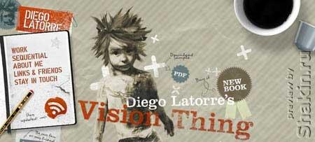 Diegolatorre.com - персональный сайт талантливого иллюстратора и художника Диего Латорре