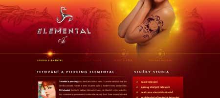 Elemental.cz - и как вы думаете, чей это такой красивый сайт? Тату и пирсинг салона
