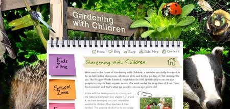 """Gardeningwithchildren.co.uk - """"Занимаемся садом вместе с детьми"""""""