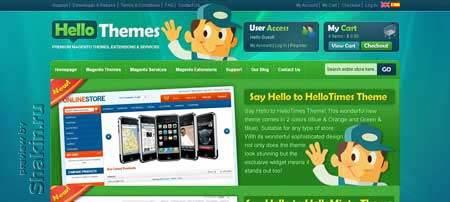 Hellothemes.com - привлекательный дизайн сайта с платными шаблонами