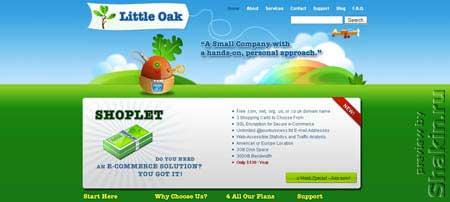 Littleoak.net - с первого взгляда даже не верится, что это сайт хостинг компании