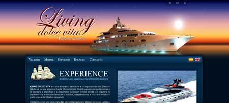 Livingdolcevita - стильный испанский сайт, который предлагает самые разнообразные лодки, яхты и корабли на любой вкус
