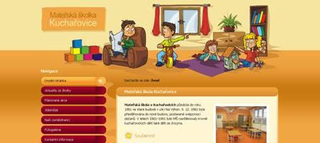 Ms-kucharovice.cz - сайт детского сада из чешского города Кучаровице
