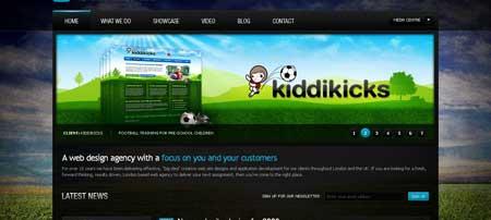 Netdreams.co.uk - сразу видно, делали профессионалы. Это сайт английской веб-дизайн студии
