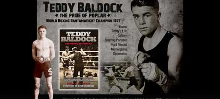 Teddybaldock.co.uk - английский сайт, посвященный знаменитому боксеру прошлого - Тедди Балдоку
