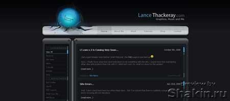 Lancethackeray.com - персональный сайт дизайнера Лэнса Такерэя
