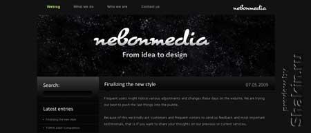 Nebonmedia.com - сайт группы молодых дизайнеров из Дании