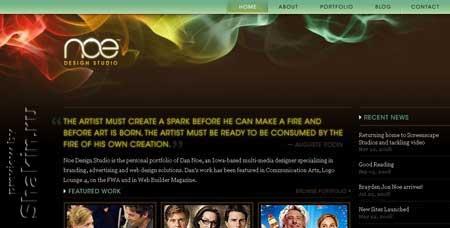 Noedesign.com - персональный сайт американского дизайнера Дэна Ноэ из штата Айова