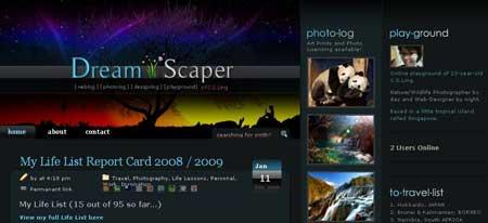 Cslingphotography.com/blog - очень красивый персональный блог веб-дизайнера и фотографа из Сингапура