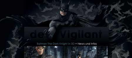 Der-vigilant.de - сайт немецкого дизайнера Ахима Лубса, большого фаната Бэтмэна